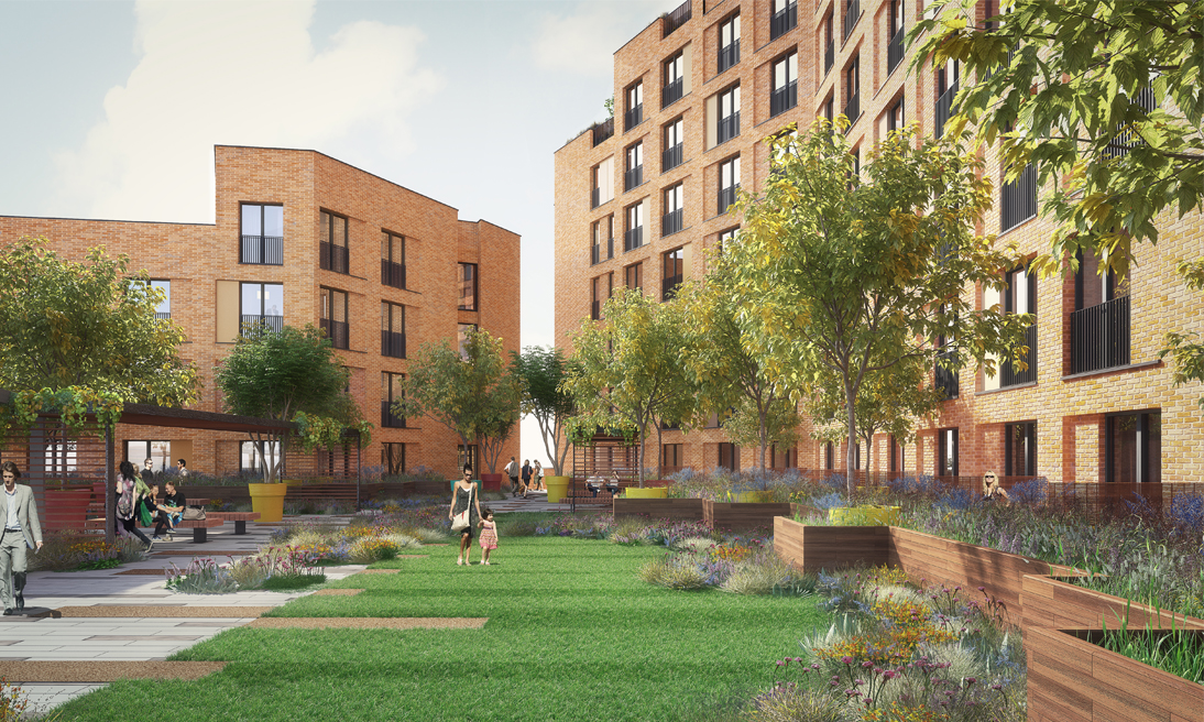 Radius Leeds private landscaped garden for residents